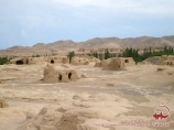 Ruins of the ancient city of Jiaohe, near Turfan, China