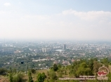 Seilbahn. Almaty, Kasachstan