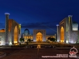 Place du Registan (XV-XVII siècles). Samarkand, Ouzbékistan