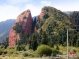 Gorge Jety-Oguz (Sept Taureaux). Karakol, Kirghizistan