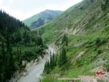 Paysage en Kirghizistan