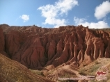 Fairy Tale canyon. The southern shore of Lake Issyk-Kul