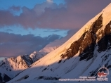 The ridge of Petrovskiy peak. Pamir, Kyrgyzstan