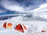 Camp 3 (6100 m). Pic Lénine, Pamir, Kirghizstan
