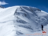Height of 6400m. Lenin peak, Pamir, Kyrgyzstan