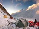 Camp 2 (5300 m). Pic Lénine, Pamir, Kirghizstan