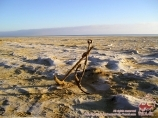 The bottom of the Aral sea