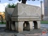 Stand pour le Coran. Mausolée de Gur-Emir. Samarcande, Ouzbékistan