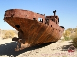 Ships in the sands. The Aral Sea, Uzbekistan