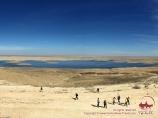 Lac Soudochie. Plateau Ousturt, Ouzbékistan