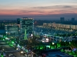Новогодняя ёлка на площади Независимости в Ташкенте