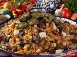 Узбекский плов с долмой. Узбекская национальная кухня