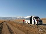 En el camino al Parque Nacional Charyn