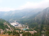 Sports complex Medeo. Cableway Medeo - Chimbulak