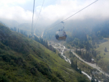 Sportanlage Medeo. Seilbahn Medeo - Chimbulak