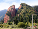 Dzhety-Oguz Gorge (The Seven Bulls). Karakol, Kyrgyzstan
