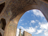 Sher-Dor Madrasah (XVII c). Uzbekistan, Samarkand