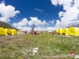 Base Camp (3600m) of «Central Asia Travel» Company. Lenin Peak, Pamir, Kyrgyzstan