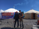 Camp 1 (4400 m). Lenin Peak, Pamir Mountains