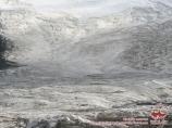 Glacier of Lenin peak. Pamir, Kyrgyzstan