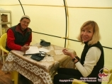 Medical service at the camp 1 (4400 m). Lenin peak, Pamir, Kyrgyzstan