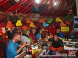 Dining yurt in the Camp 1 (4400m). Lenin peak, Pamir, Kyrgyzstan