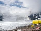 Camp 1 (4400 m). Lenin peak, Pamir, Kyrgyzstan