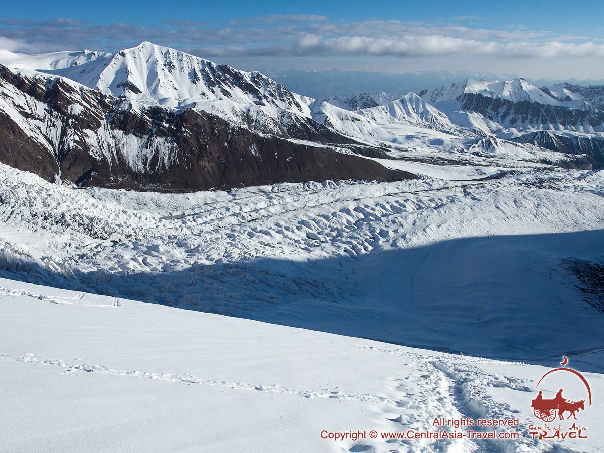 Paso al Campo 2. Pico Lenin, Pamir, Kirguistán