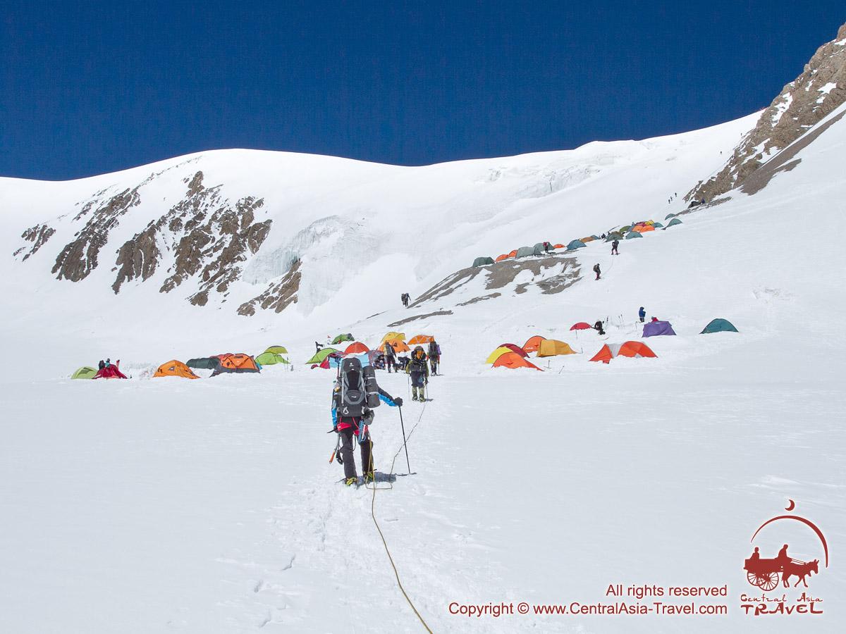 Camp 2. Lenin peak, Pamir, Kyrgyzstan