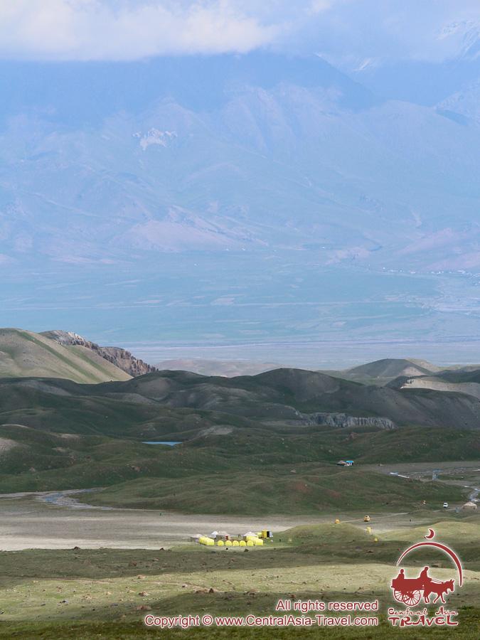Base Camp (3600m) of «Central Asia Travel» Company. Lenin Peak, Pamir, Kyrgyzstan