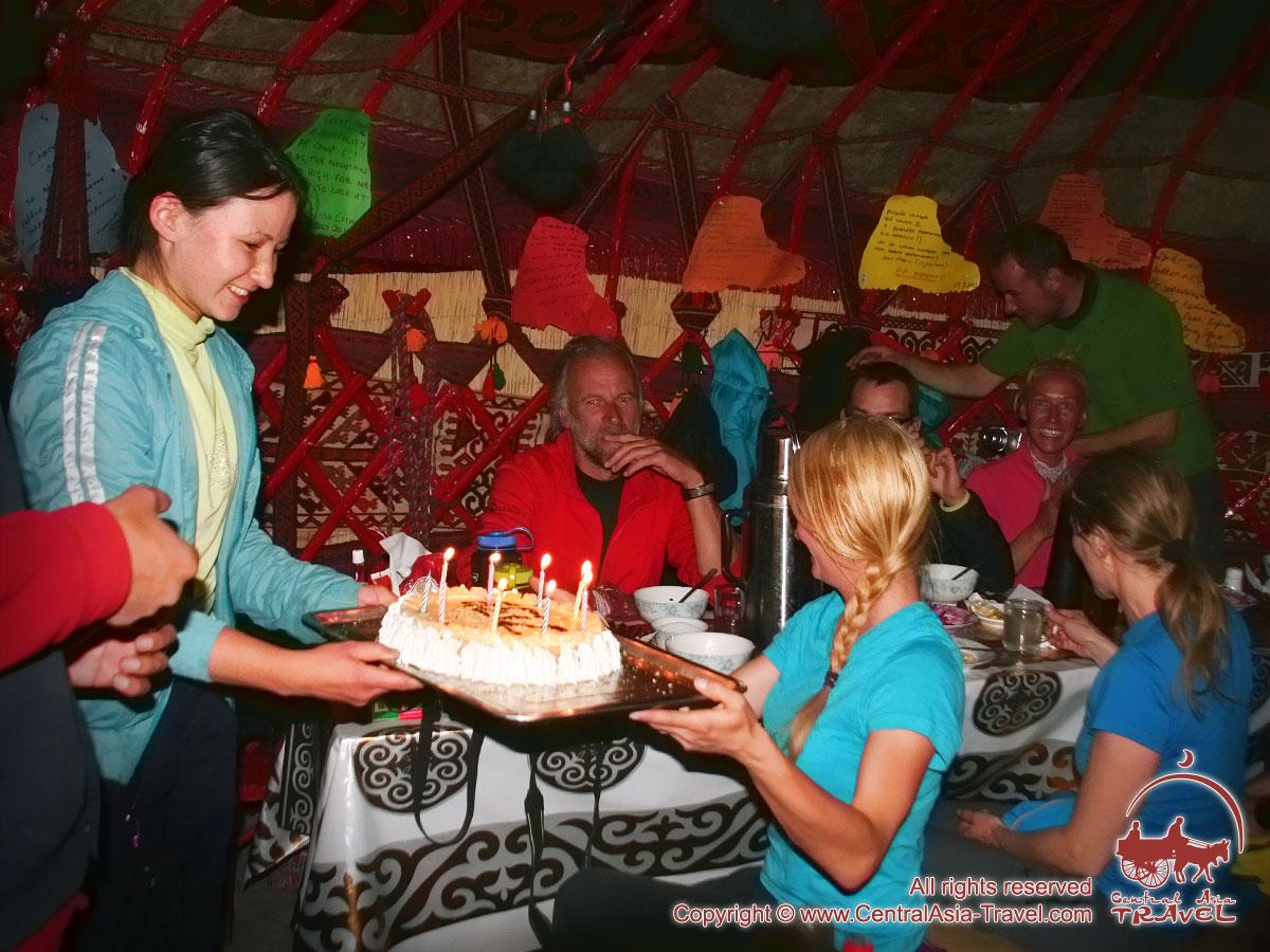 Поздравления с днем рождения. Базовые лагеря пика Ленина