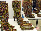 Exclusive handmade shoes. Uzbekistan, Central Asia
