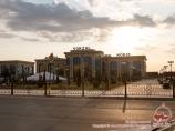 Nukus railway station. Uzbekistan
