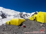 Camp 1 (4400m) of «Central Asia Travel» Company. Lenin Peak, Pamir, Kyrgyzstan