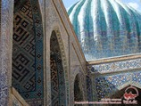 Dome of the Sher-Dor Madrasah (19th c.). Registan Square, Samarkand, Uzbekistan